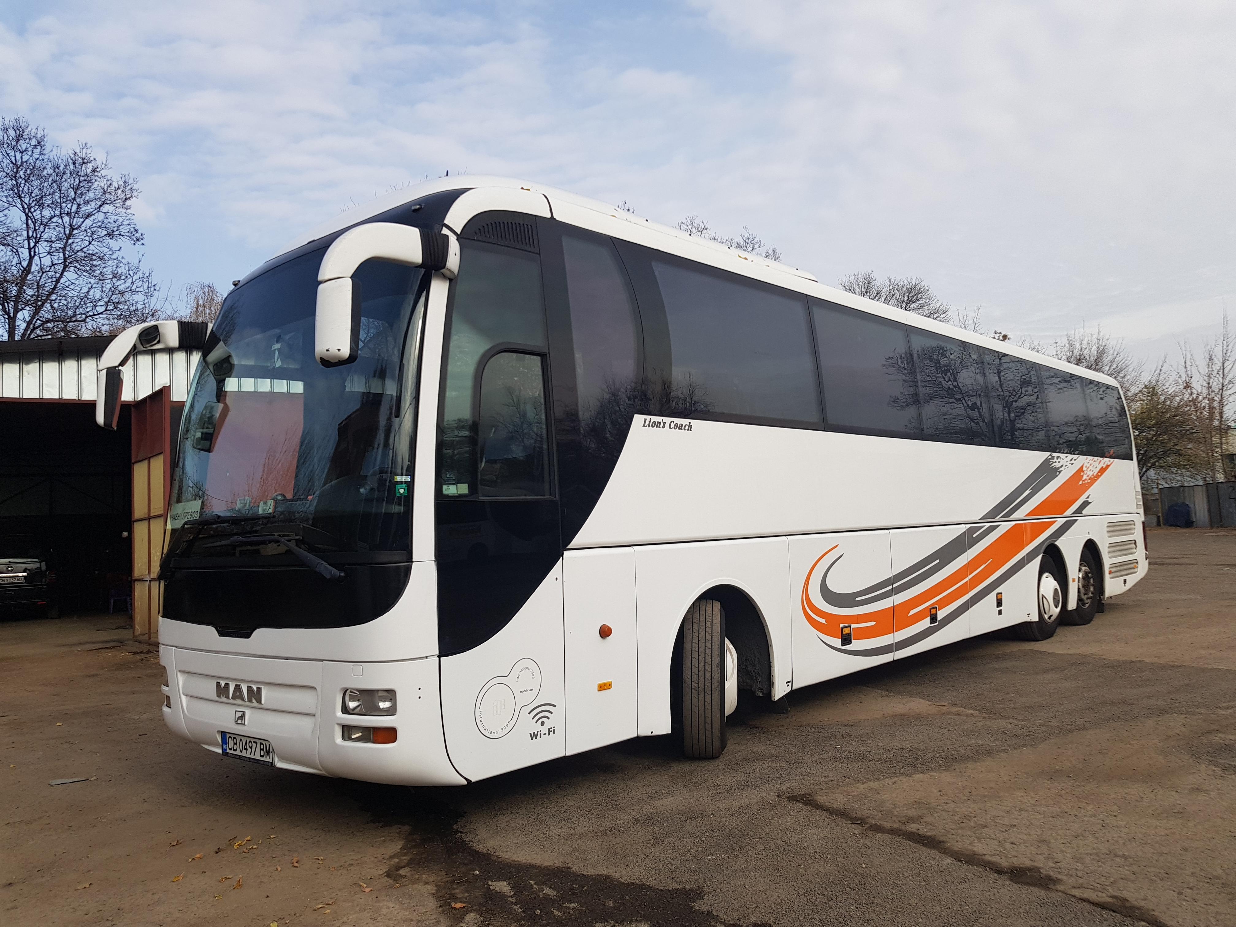 Автобус МАН, Места: 56+1